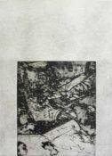 Valentin Oman geb. 1935 o.T. Radierung handsigniert und nummeriert 2/4 70 x 50 cm