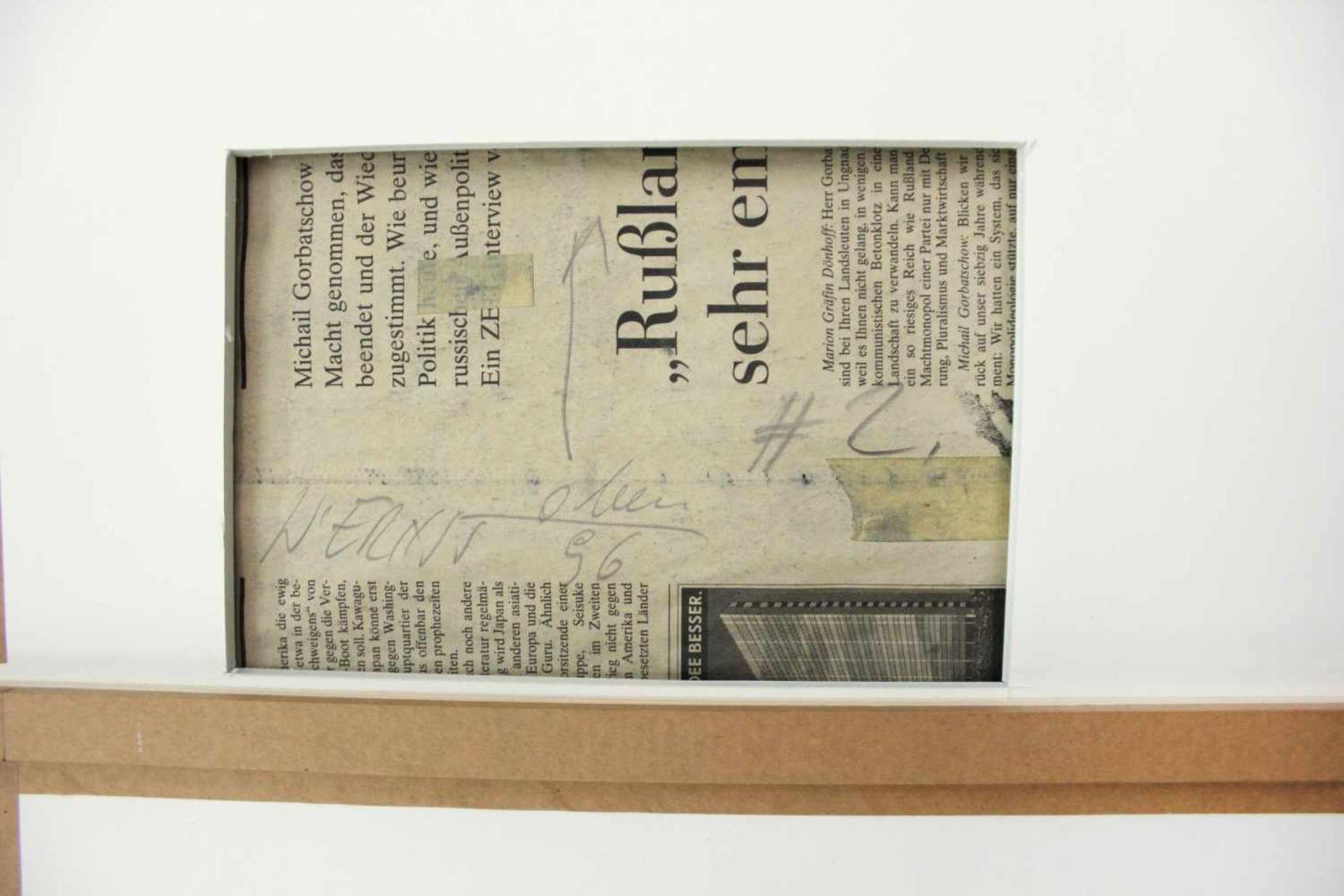 Wolfgang Ernst geb. 1942 o.T. (#2) 1996 Graphit auf Zeitungspapier handsigniert und datiert verso 55 - Bild 4 aus 4