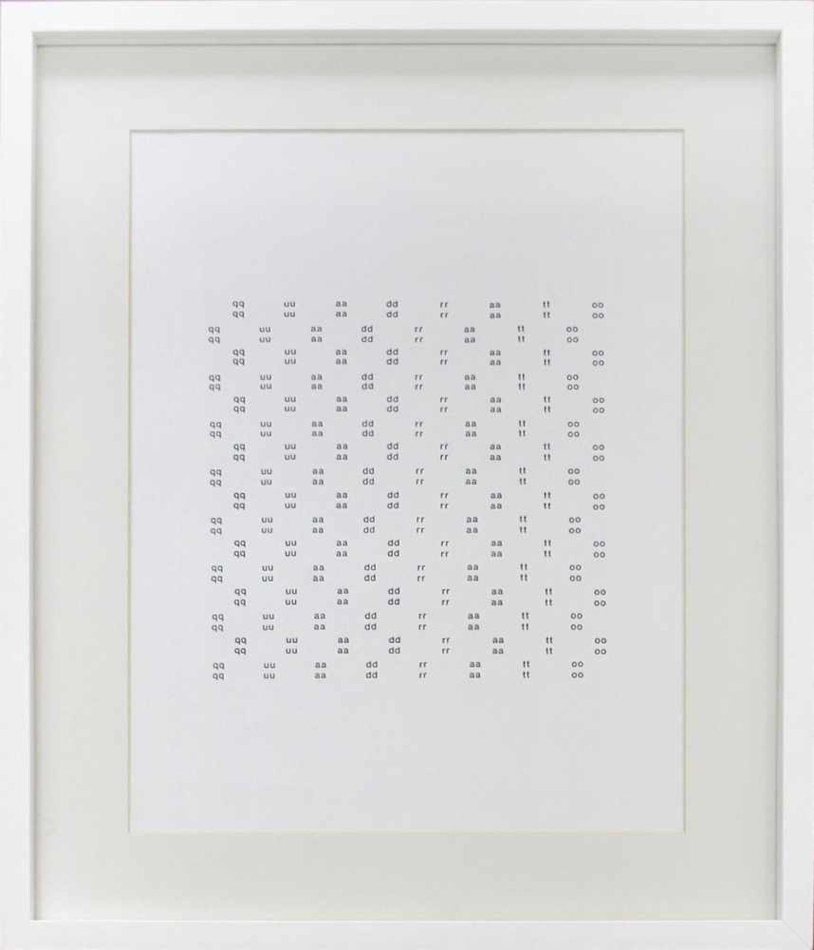 Heinz Gappmayr 1925 - 2010 Quadrato 1988 Offset-Druck handsigniert und datiert verso 42 x 30 cm - Bild 2 aus 3
