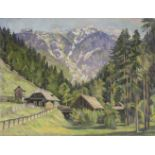 Rudolf Zwickelsdorfer 1887 - 1975 Schneealpe bei Neuberg an der Mürz, Stmk Öl auf Leinwand auf