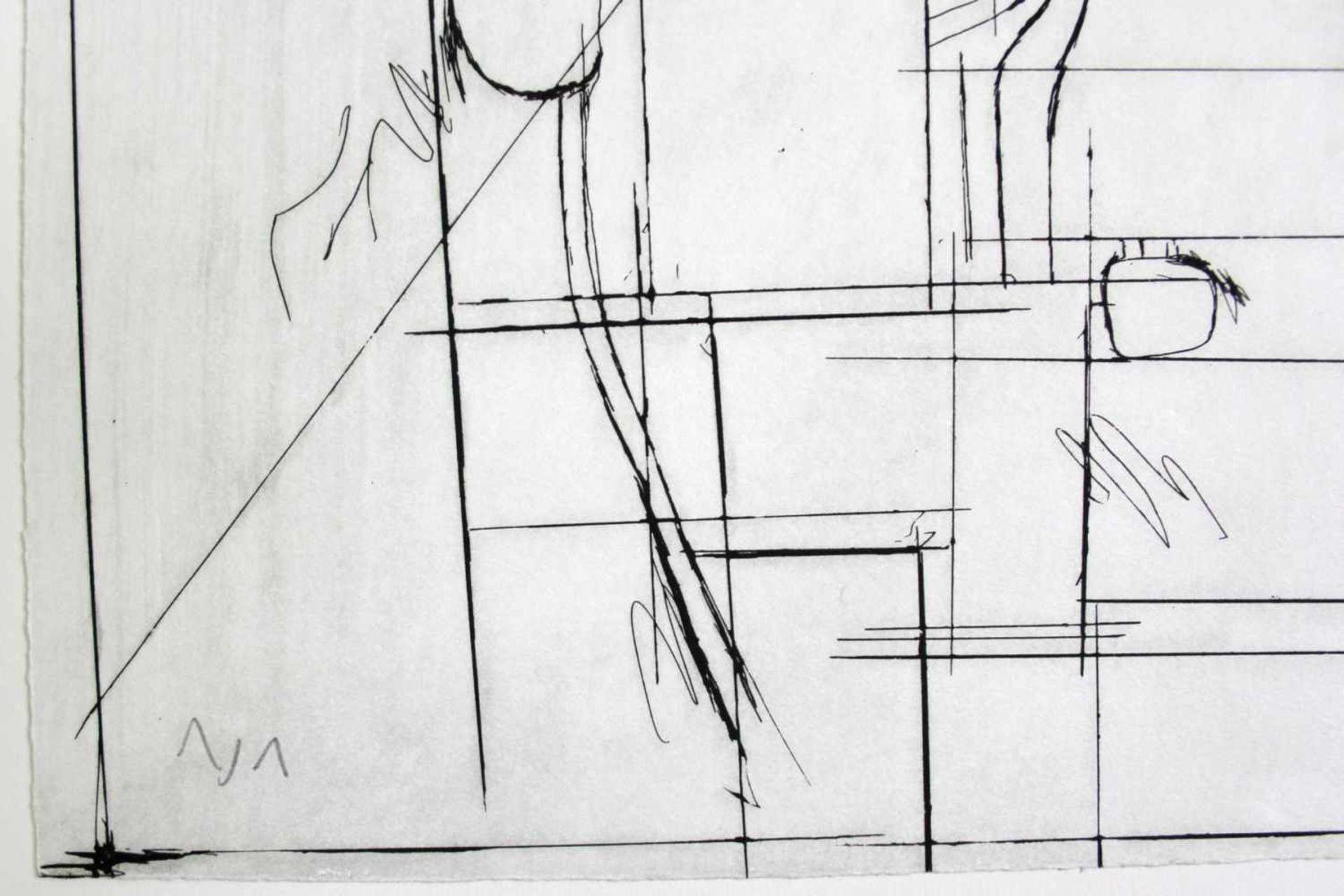 Hermann Nitsch geb. 1938 o.T. 2010 Kaltnadelradierung handsigniert und nummeriert 1/1 68 x 48 cm - Bild 4 aus 4