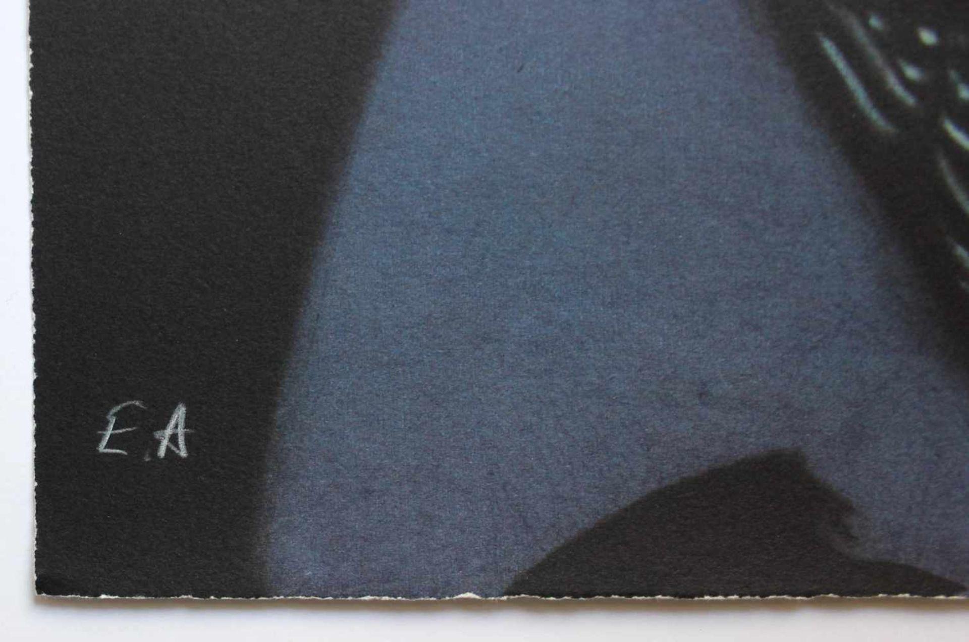 Gottfried Helnwein geb. 1948 Jean Tinguely hell Farblithographie handsigniert, nummeriert E.A. 80 - Bild 3 aus 3