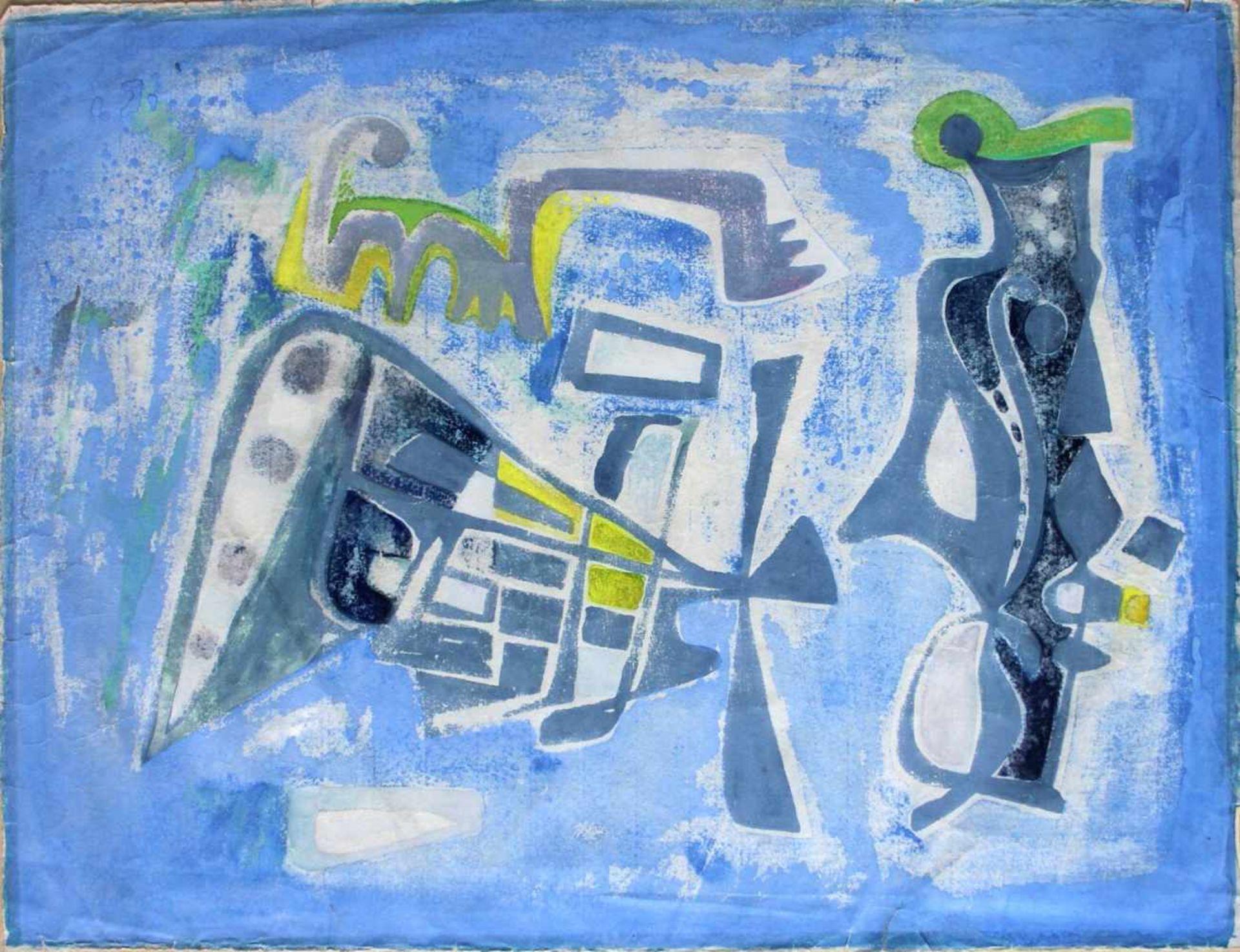 Rudolf Pointner 1907-1991 Ischia 1953 Mischtechnik auf Papier handsigniert, betitelt und datiert
