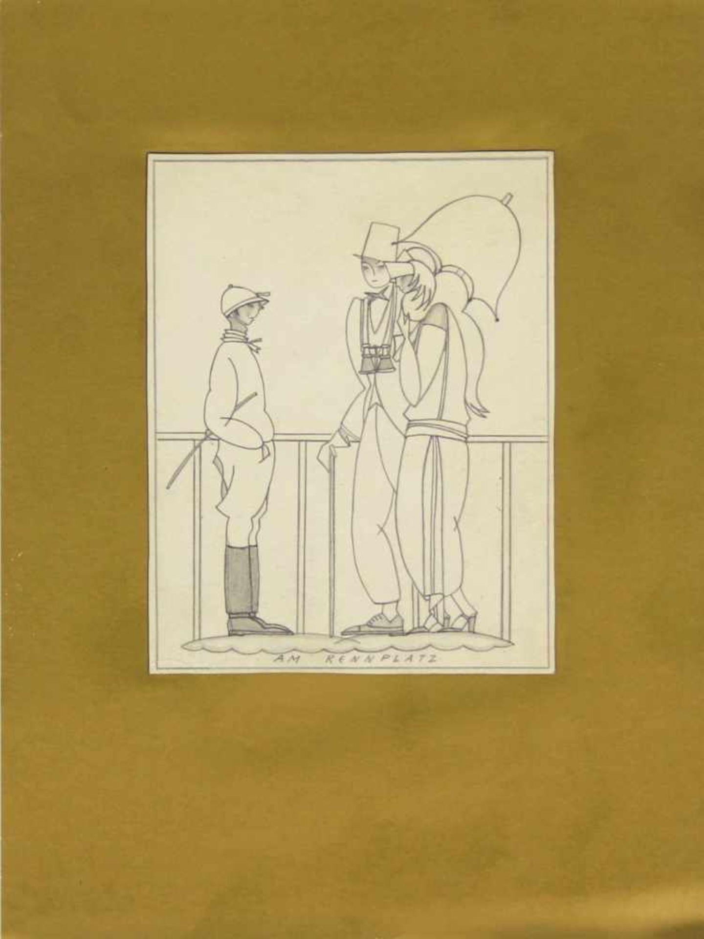 Grete Jelinek-Wiglitzki Konvolut aus 3 Zeichnungen der Künstlerin um 1930 Graphit 3 Zeichnungen 15 x - Bild 5 aus 6
