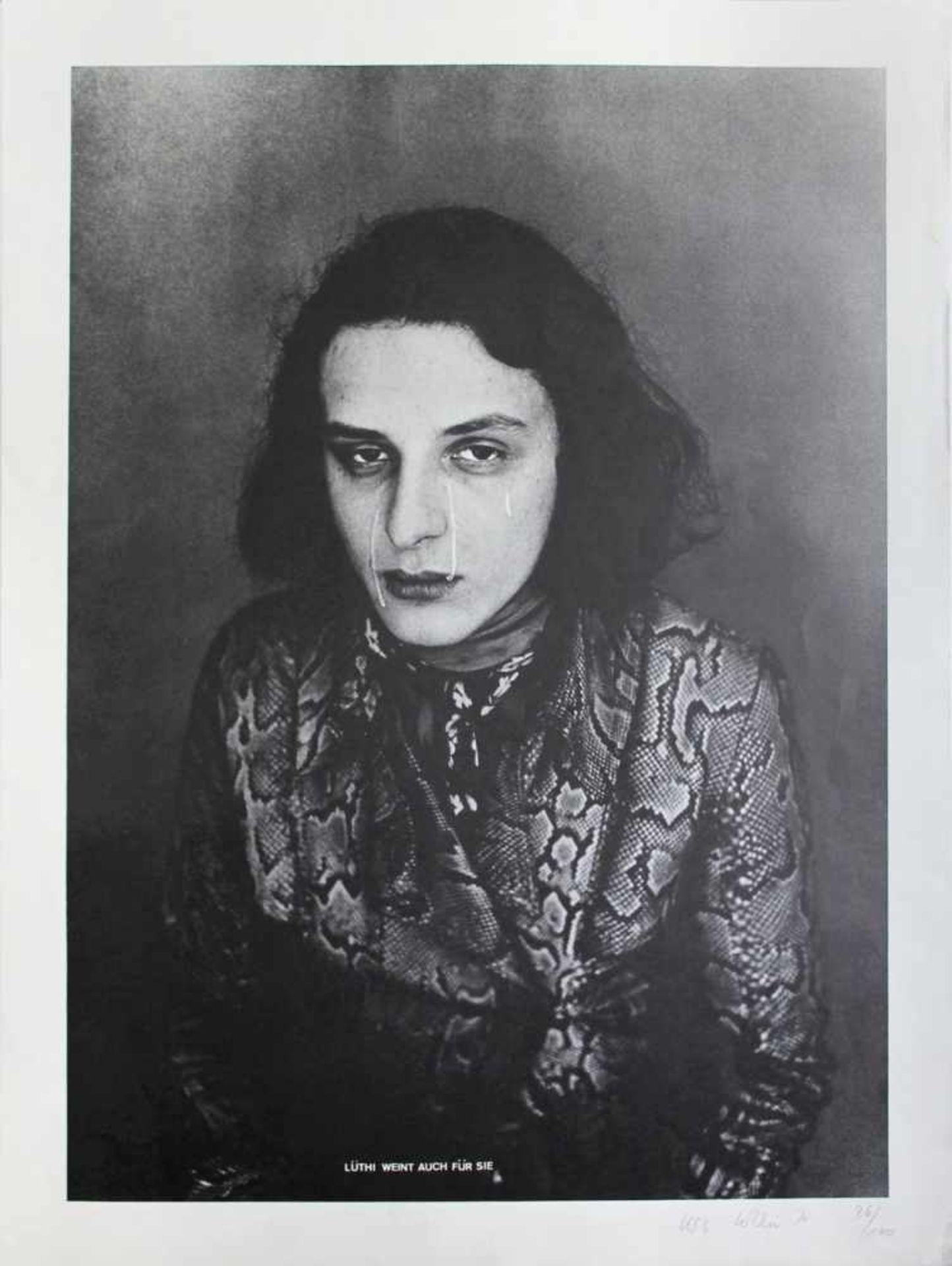 Urs Lüthi geb. 1947 Lüthi weint auch für Sie 1974 Offsetlithographie handsigniert, datiert und