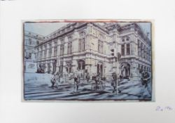 Landerl Paul Streetlife 2016 Lithographie handsigniert, datiert und nummeriert vorne, Edition 10/