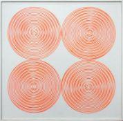 Kämmer Rudolf geb. 1935 4 Spiralen 1967 Acryl-Leuchtfarbe auf Platte handsigniert und datiert