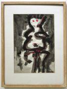 Frohner Adolf 1934-2007 Ohne Titel Aquarell auf Papier handsigniert vorne, gerahmt 49,5 x 38,5 cm