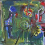 Schmalix Hubert geb. 1952 Ohne Titel 1981 Acryl auf Leinwand beidseitig bemalt, handsigniert und