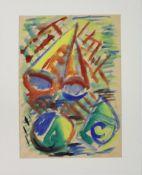 Schmalix Hubert geb. 1952 Kleines Strandgut 3 1981 Aquarell auf Papier handsigniert, datiert und