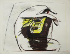 Messensee Jürgen geb. 1936 Ohne Titel 1971 Lithographie Probedruck, handsigniert und datiert vorne