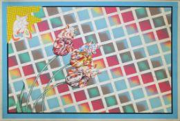 Attersee Christian Ludwig geb. 1940 Ohne Titel 1970 Siebdruck auf Karton handsigniert, datiert und