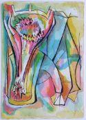 Decleva Mario 1930-1979 Stier 1955 Tusche und Aquarell auf Papier handsigniert und datiert vorne