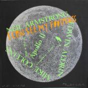 Kogelnik Kiki 1935-1997 Moonhappening 1969 Siebdruck auf schwarzem Papier handsigniert, datiert