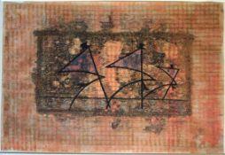 Fleck Karl Anton 1928-1983 Kabarett 1955 Mischtechnik auf Papier monogrammiert, datiert und betitelt