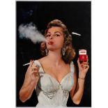 Advertising Poster Corner Cigarettes Advertising