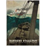 Advertising Poster Randers Staaltov - Steel Rope Advertising