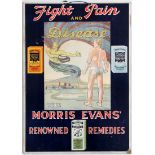 Advertising Poster Fight Pain and Disease with Morris Evans Renowned Remedies
