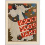 Art Deco German Music Sheet Cover 1000 Takte Tanz