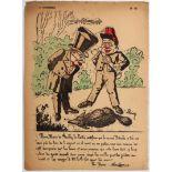 Advertising Poster Caricature Nous Maire de Fouilly-le-Crottin