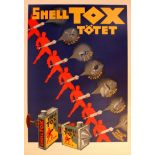 Advertising Poster Shell Tox Totet Art Deco