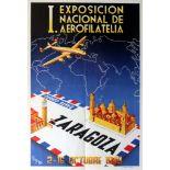 Advertising Poster Zaragoza Philatelic Expo