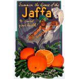 Advertising Poster Genie Jaffa Oranges