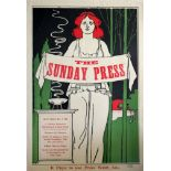 Advertising Poster The Sunday Press 1895