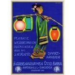 Advertising Poster Otto Baer Colour Paints Art Deco