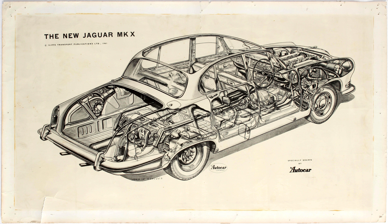 Original Vintage Advertising Poster The New Jaguar Mk X
