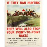 Advertising Poster Hunting Ban British Field Sports Society