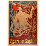 Advertising Poster Cigarettes Saphir Stephano 1910