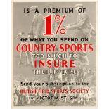 Advertising Poster British Field Sports Insurance