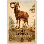 Advertising Poster EMB Cyprus Cigarettes Ram F C Herrick