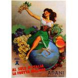 Advertising Poster Adani Fruits Boccasile 1950s