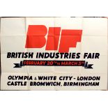 Advertising Poster British Industries Fair 1930s