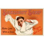 Advertising Poster Sunlight Soap Victorian Child