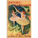 Poster Drawing Ballet Danses Classiques Belle Epoque
