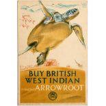 Advertising Poster EMB West Indian Arrowroot Turtle F C Herrick