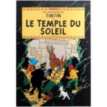 Advertising Poster The Adventures of Tintin Prisoners of the Sun Herge