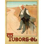 Advertising Poster Tuborg Beer Erich Henningsen