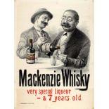 Advertising Poster Mackenzie Whisky Scotch Liqueur