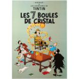 Advertising Poster The Adventures of Tintin The Seven Crystal Balls Herge