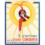 Advertising Poster Art Deco Ombra Belgium