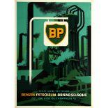 Advertising Poster BP British Petroleum Kerosene Fuel Oil