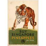 Advertising Poster EMB Singapore Tiger Pineapples F C Herrick