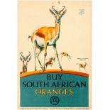Advertising Poster EMB South African Oranges Gazelle F C Herrick
