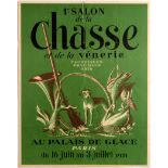Advertising Poster 1st Hunting Show in Palais de Glace Paris 1951