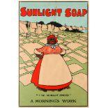 Advertising Poster Sunlight Soap Black Americana