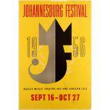 Advertising Poster Johannesburg Festival 1956